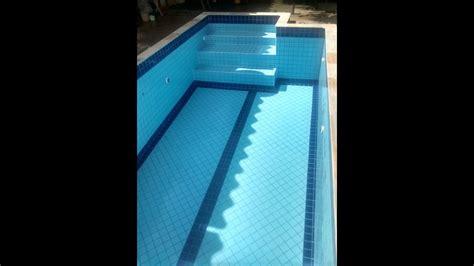 reformatransformacao de piscina de vinil  azulejo