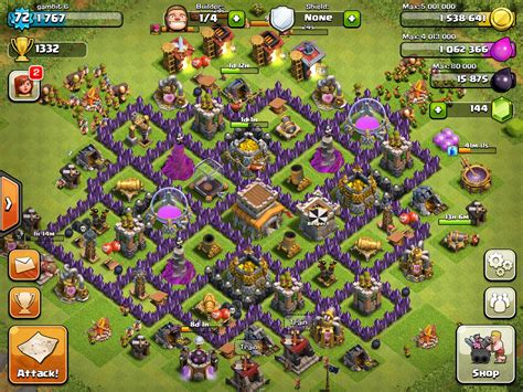 layout hybrid th8 clash of clans layout th8 trophy base car interior design