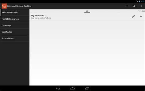 remote desktop for android microsoft rilascia remote desktop per android androidworld