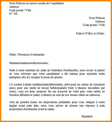 lettre embauche exemple type lettre de motivation jaoloron
