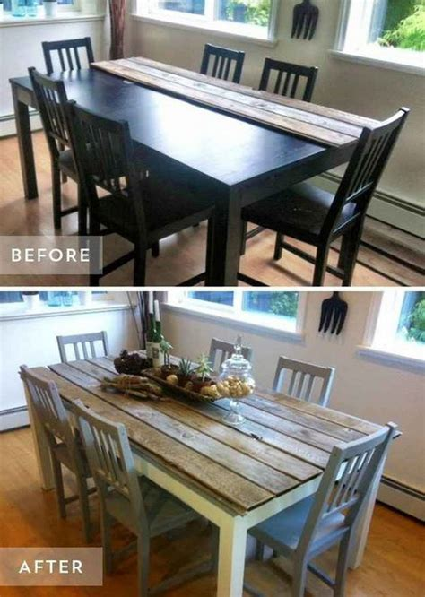 dining room table makeover ideas 40 awesome makeovers clever ways with tutorials to