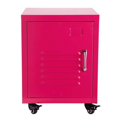 comodino con rotelle comodino rosa a rotelle in metallo l 37 cm loft maisons