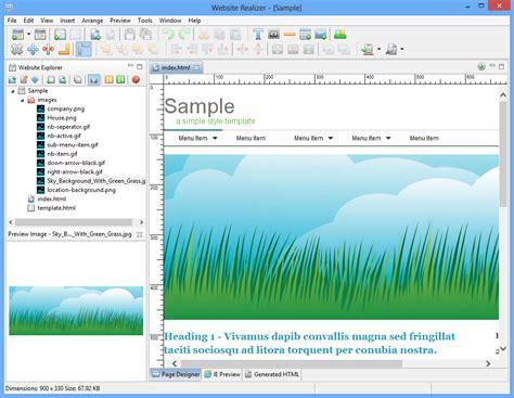 website realizer tutorial website realizer software screenshots