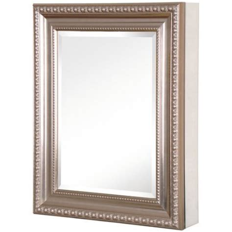 brushed nickel recessed medicine cabinet 20 in x 26 in recessed or surface mount mirrored