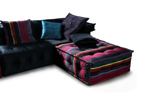 Colored Sofas by Ls103da Multi Colored Fabric Sectional Sofa