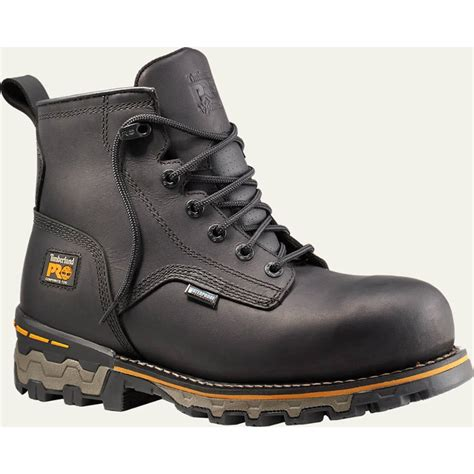 comfortable safety toe boots timberland pro boondock ct eh waterproof black work boot