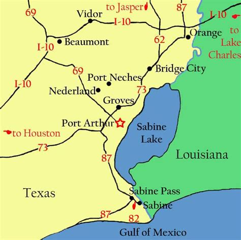 sabine river texas map sabine lake