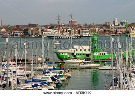 boats coming into portsmouth yachts in haslar marina hshire england uk stock
