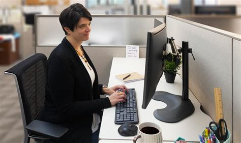 ergotech dual horizontal lcd monitor arm desk stand 100