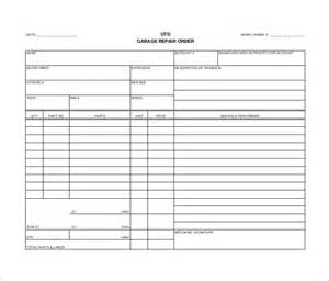auto repair forms template hardhost info