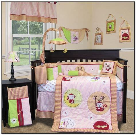 monkey girl crib bedding sets beds home design ideas