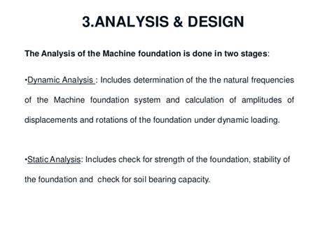 design criteria for machine foundation machine foundation design