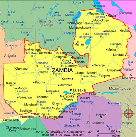 map of lusaka atlas zambia map infoplease