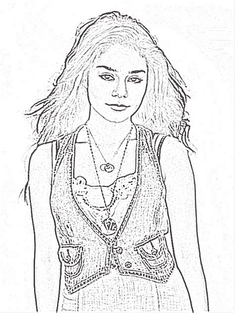 coloring pages for high school hudgens high school musical 2 da colorare