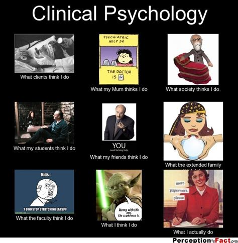 Psychology Memes - clinical psychology what people think i do what i