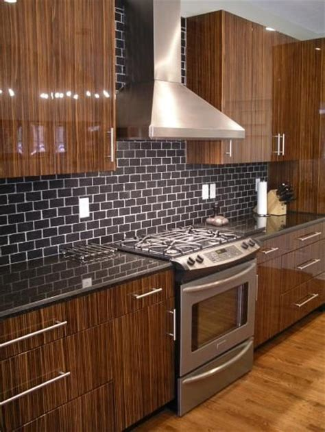 black subway tile backsplash black subway tile kitchen ideas pinterest