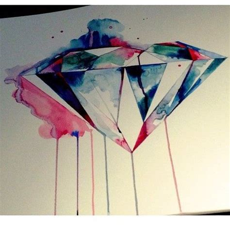 watercolor tattoo diamond watercolor for or side