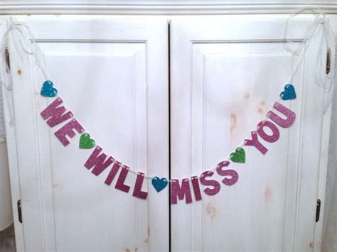 Farewell Decoration Images by We Will Miss You Banner Going Away Banner By