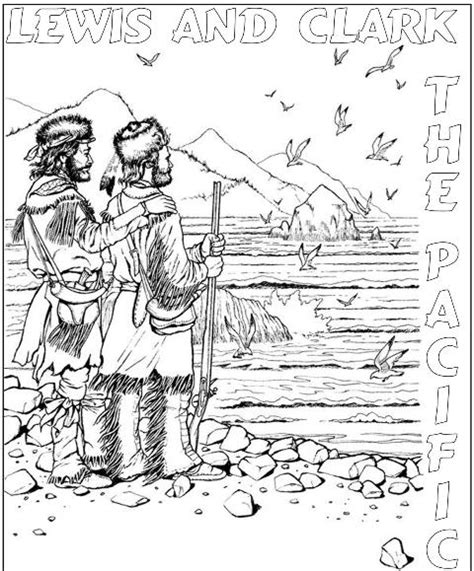 sacagawea lewis and clark coloring pages coloring pages