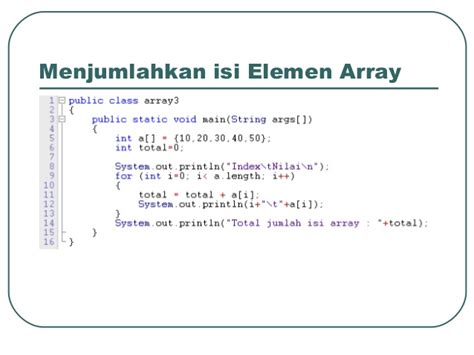 isi for array flow control exception handling array