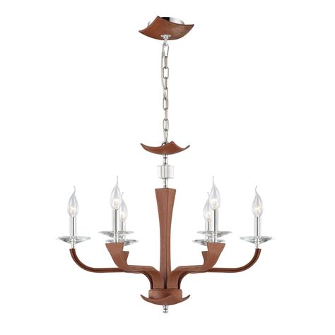 Candle Chandelier Lowes Shop Eurofase Pella 25 75 In 6 Light Brown Candle Chandelier At Lowes