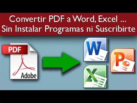 como convertir imagenes a pdf sin programas como convertir un pdf a word excel powerpoint f 193 cil y