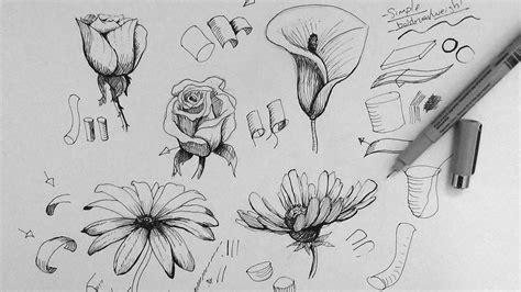 tutorial drawing sketchbook flower sketch dr odd