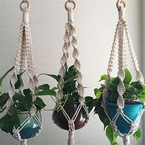 Macrame Patterns Plant Hangers - 25 best ideas about plant hangers on macrame