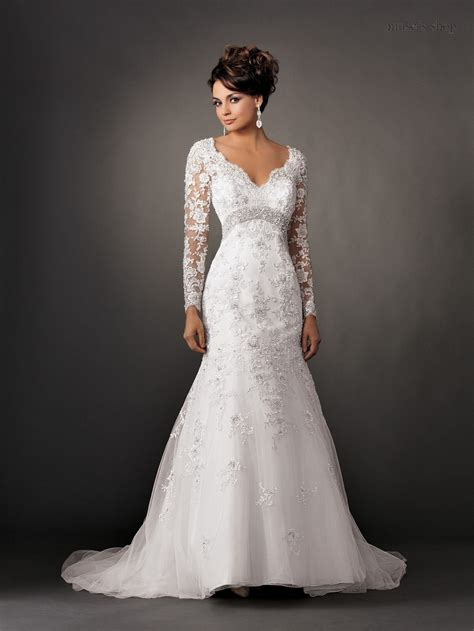 neck vintage long sleeve lace wedding dresses backless