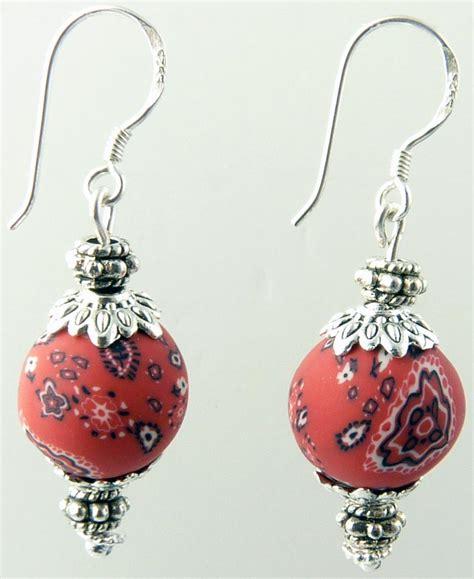 Handmade Clay Earrings - americana vintage single polymer clay earrings