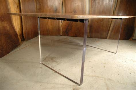 acrylic dining table base custom dining tables by dumond s handmade custom furniture