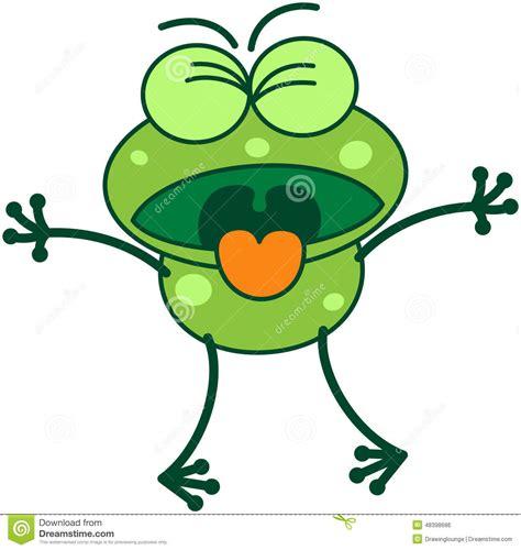 le clipart grenouille verte exprimant le d 233 go 251 t illustration de