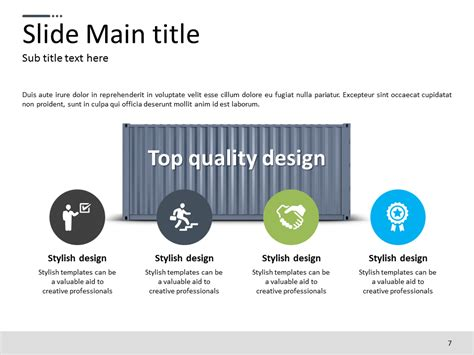 template powerpoint logistics logistics ppt template goodpello
