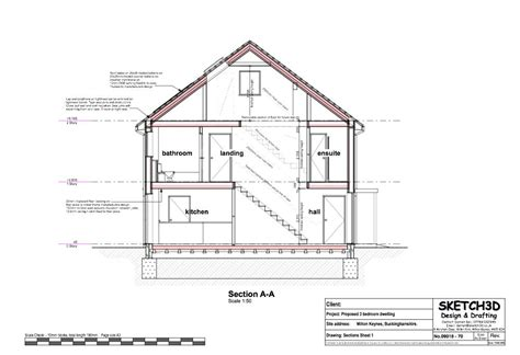 section of a house plan exle self build house plans low energy lifetime home