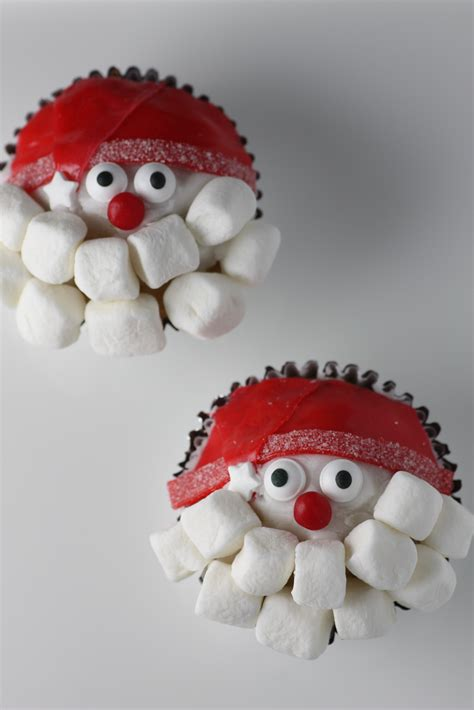 santa claus cupcakes diy catch my party