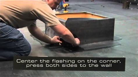 lichtkoepel tape rubber roofing epdm outside corner flashing youtube