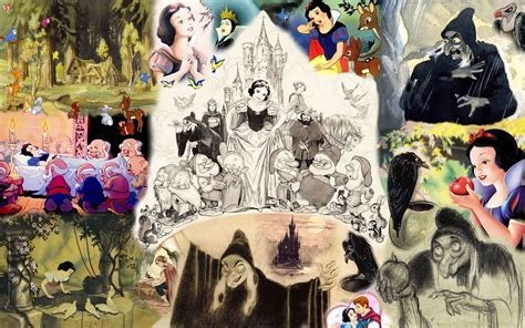 Snow White Collagen snow white and the seven dwarfs wallpapers wallpaper cave