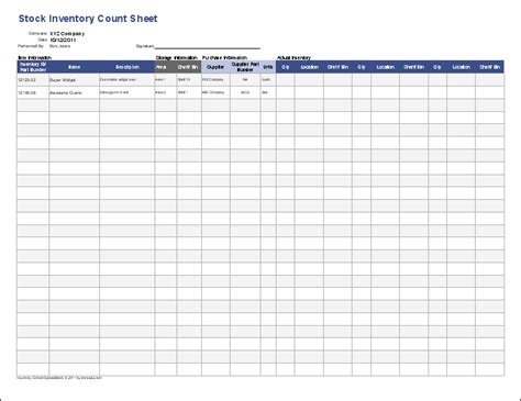 stock count template inventory template stock inventory