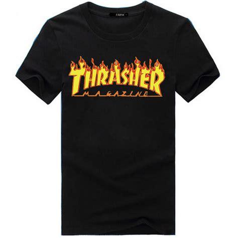 Trasher Logo Tees 1 thrasher tshirt magazine logo t shirt skateboard skater high quality ebay