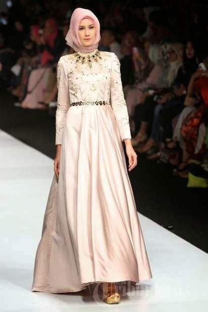 Gamis Pelangi Hijabers Princess model baju pesta muslim modern terbaru 2015 model baju