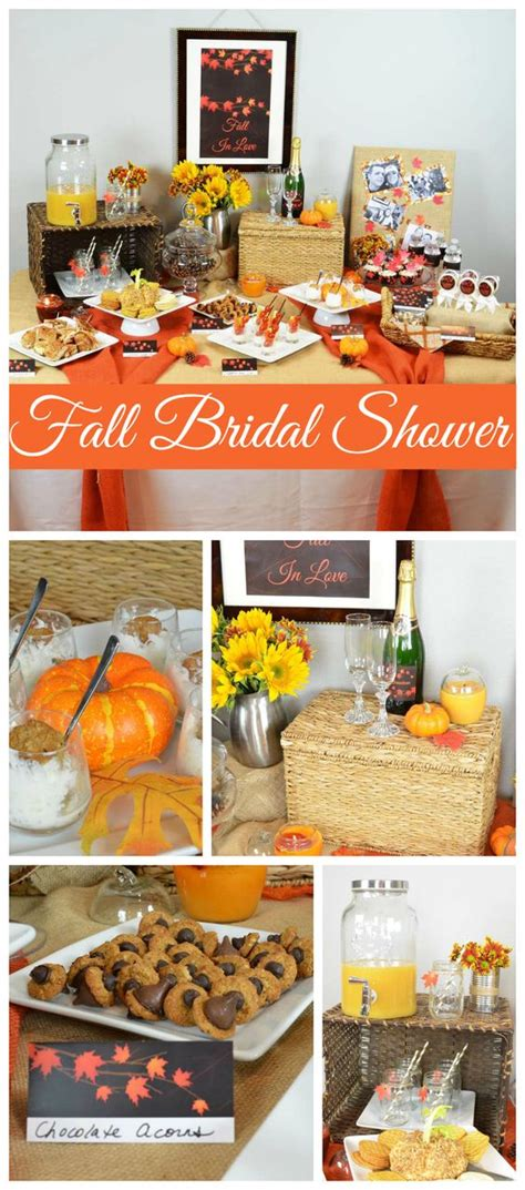 fall themed wedding shower ideas autumn leaves bridal shower bridal wedding shower quot erin jonathan s fall in shower