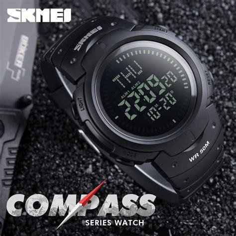 Jam Tangan Digital 5 skmei jam tangan digital pria dg1231cm black jakartanotebook