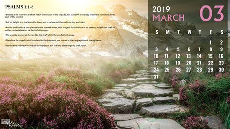 march  calendar hd desktop wallpaper  bible verse words     downloads