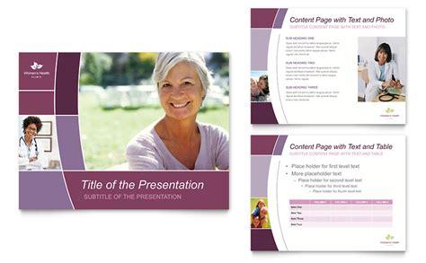 Women S Health Clinic Powerpoint Presentation Powerpoint Template Healthcare Presentation Templates