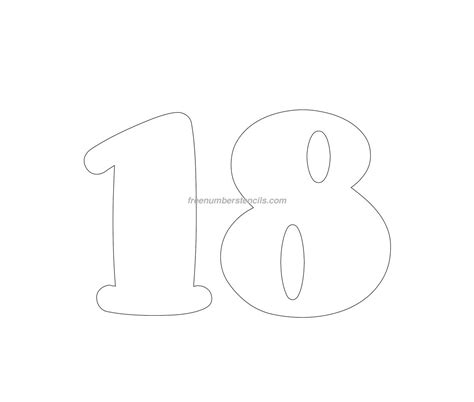 best photos of number 18 template number template clip