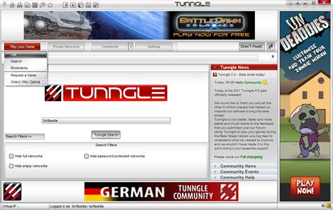 how to update tunngle tunngle download