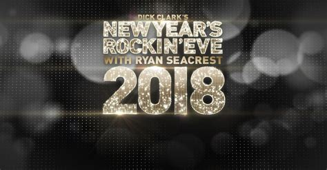 abc seacrest new years clark s new year s rockin with
