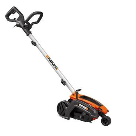 worx 7 5 in 12 electric lawn edger wg896 the home depot