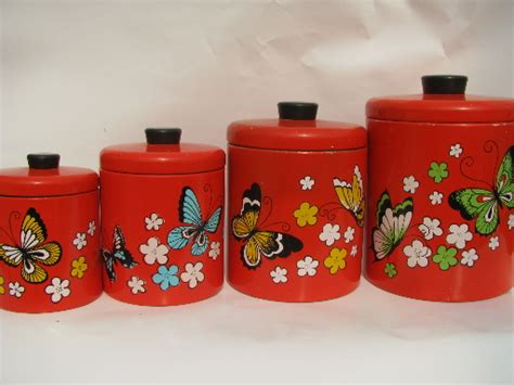 vintage ransburg metal kitchen canisters unique rhinestone design retro kitchen canisters home design ideas and pictures