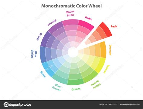 monochromatic color wheel monochromatic color wheel color scheme theory reds color